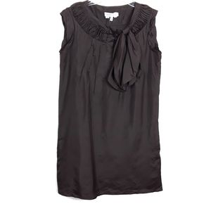 See by Chloe 100% Silk Brown Mini Dress with Bow